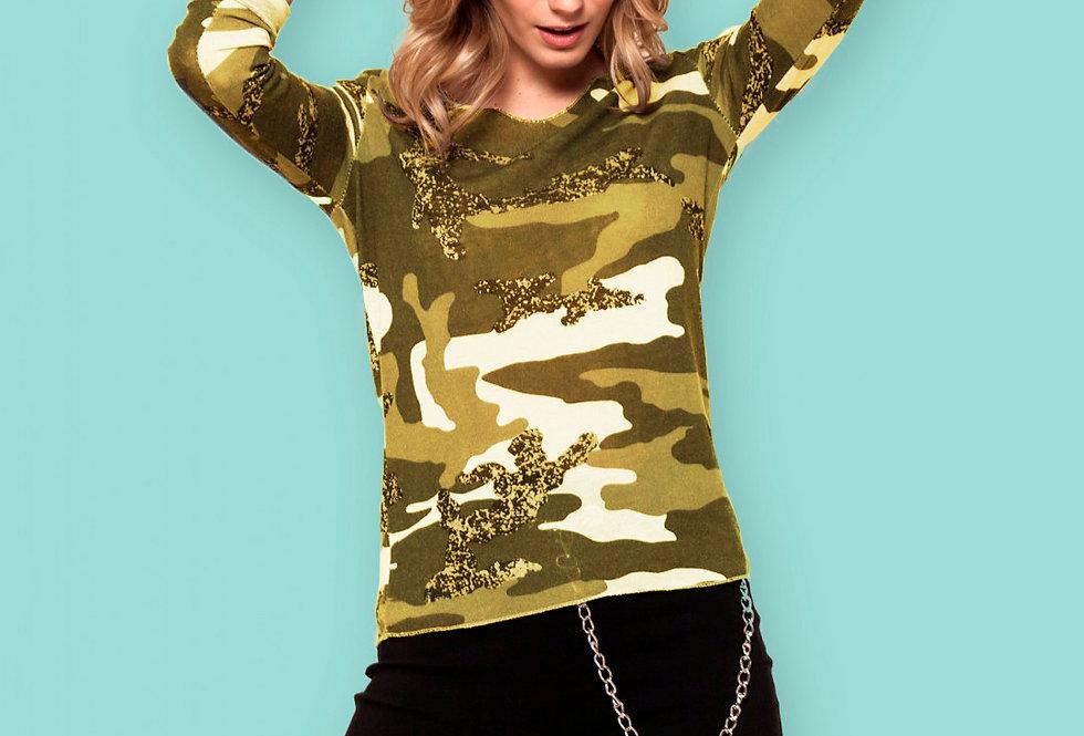 Camiseta manga larga militar
