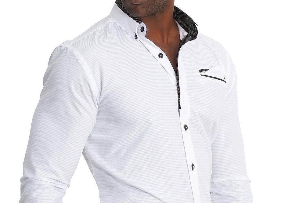 Camisa blanca con detalles en negro 6217-82