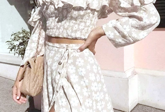 Falda midi para conjunto