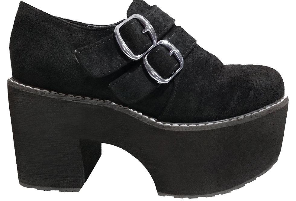 Zapato plataforma antelina