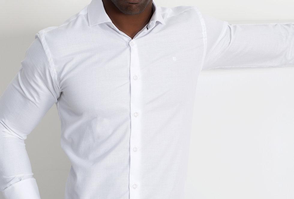 Camisa de vestir con ojal para gemelos