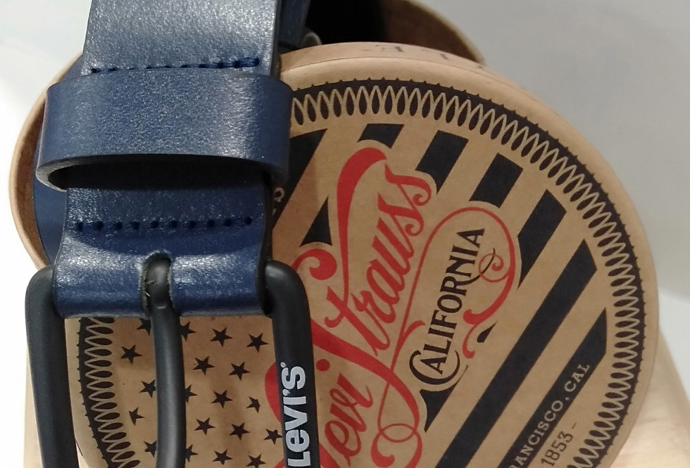 Cinturón Levi's 231742 de piel azul