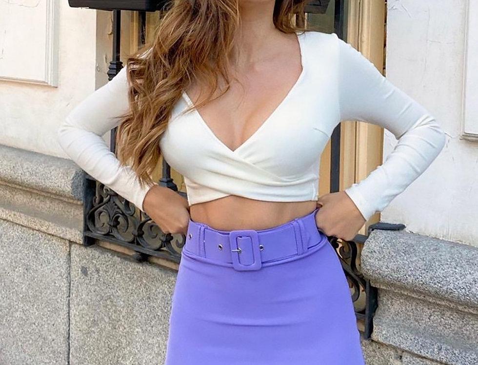 falda pantalon con cinturon