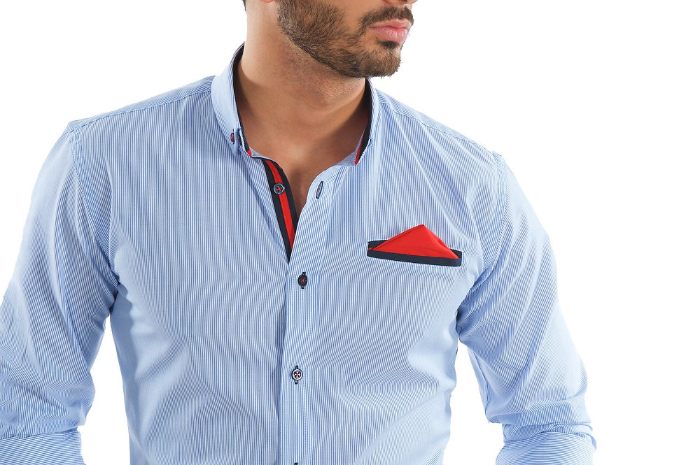 Camisa rayas con pañuelo