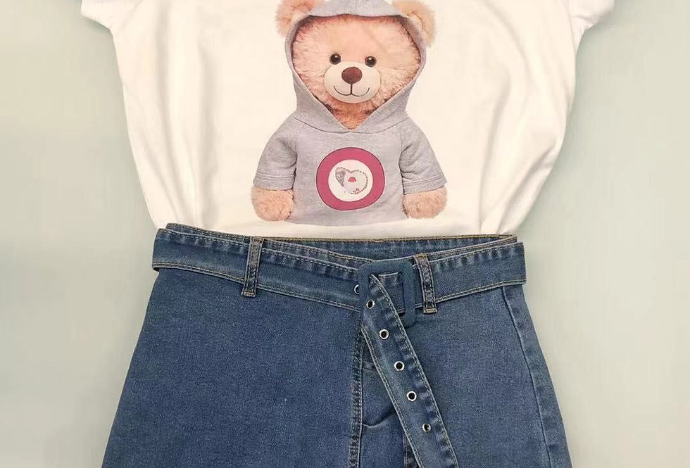 camiseta oso con sudadera 1828