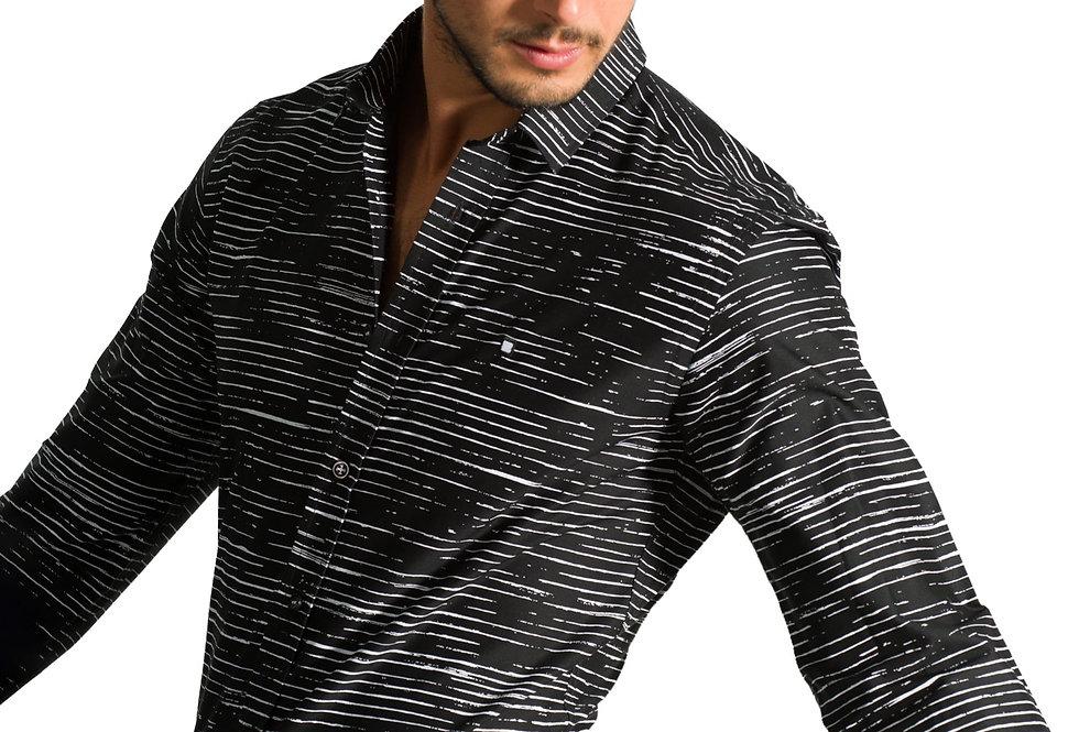 Camisa estampado rayas