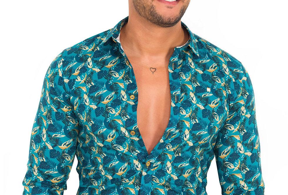 Camisa con detalles amarillos 6540