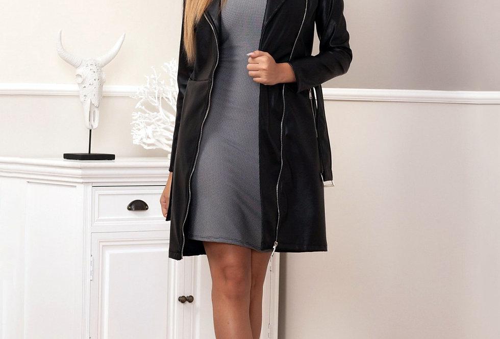 Vestido abrigo polipiel