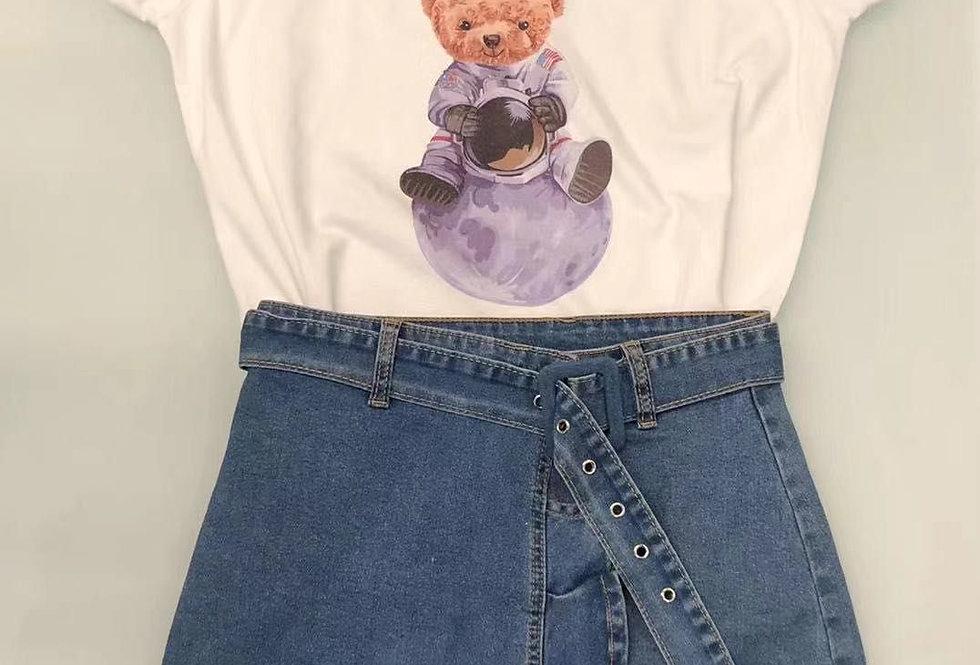 camiseta oso astronauta 1828