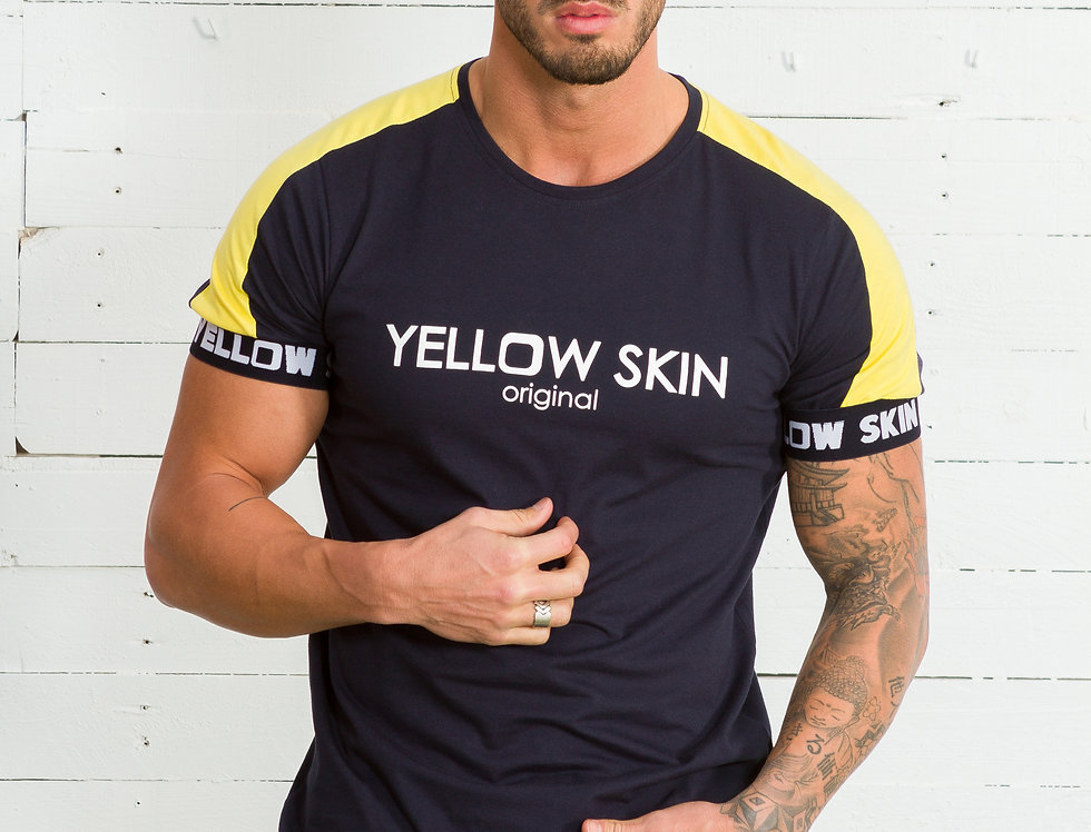 camiseta Yellow Skin 7839 manga con logo