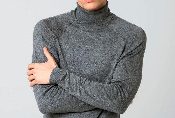 Jersey básico de cuello alto