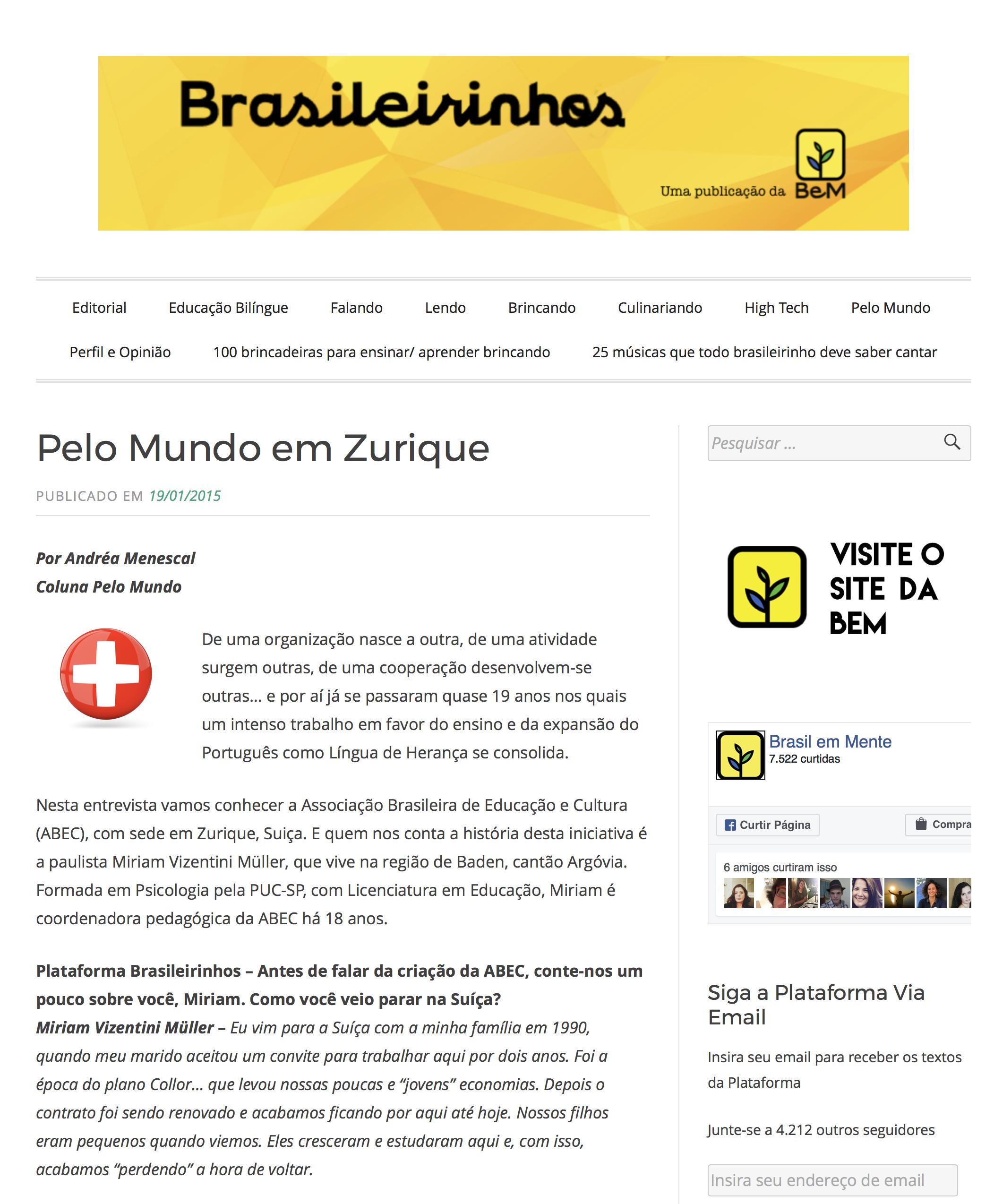 Brasileirinhos pelo mundo - 2015