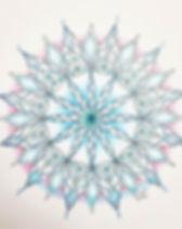 Een lotus mandala die een keelchakramand