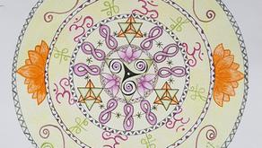De symbolen van de reizende mandala