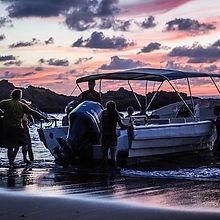 beach landing drake bay