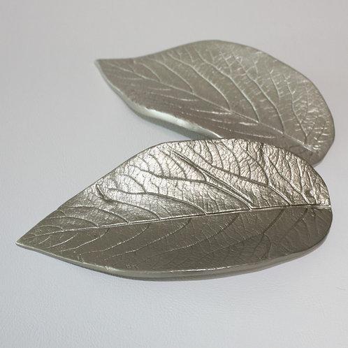 Blattschalen-Duo Silber & Zinn