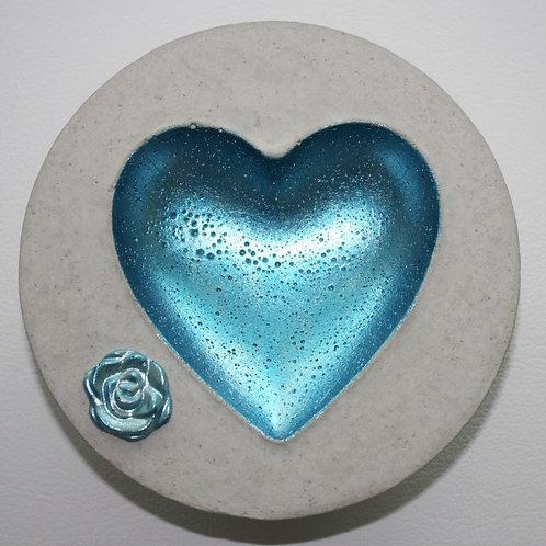 Herzschale Eisblau