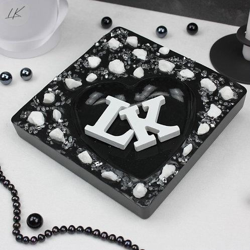 Herzschale White-Rock XL