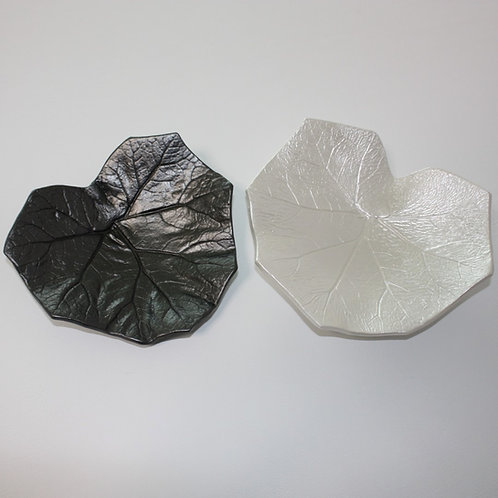 Blattschalen-Duo Grau & Perlweiss