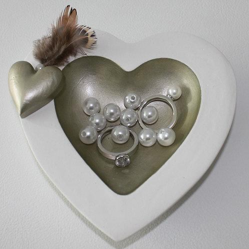 Herzschale Weissgold