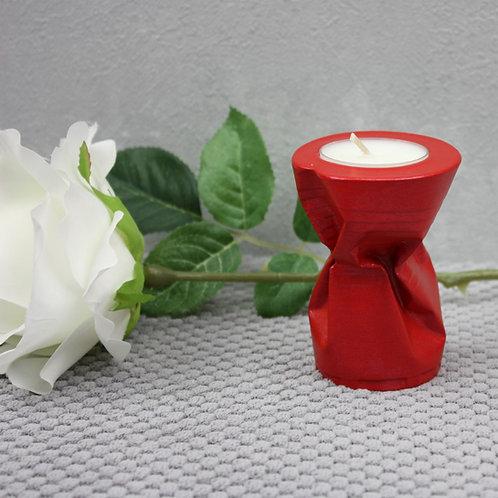 Teelichthalter Feuerrot