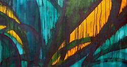 Maori Green Orange 2006 23x42