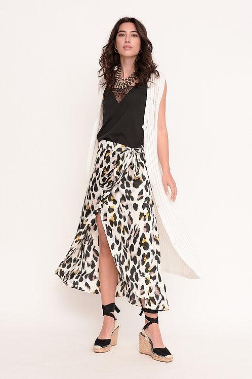 Falda larga Leopard