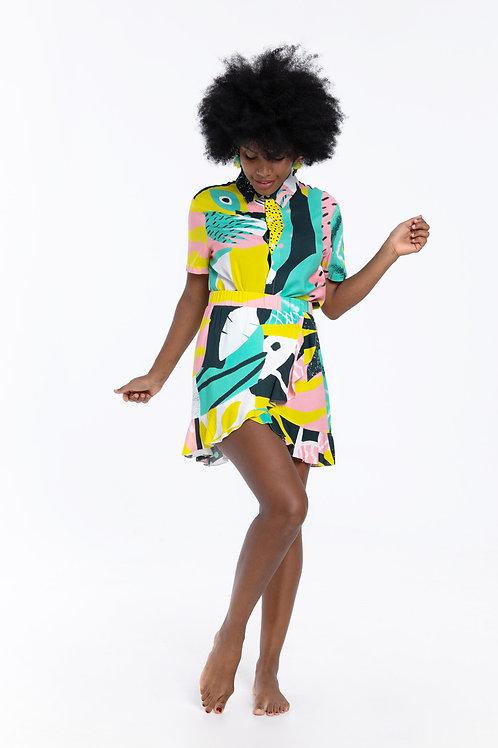 Falda volantes Tropical Matisse