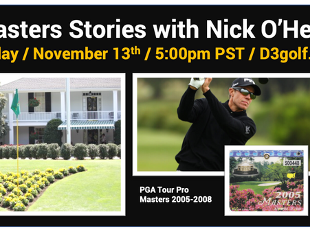 D3 Golf Hosts Masters Interview with Nick O'Hern
