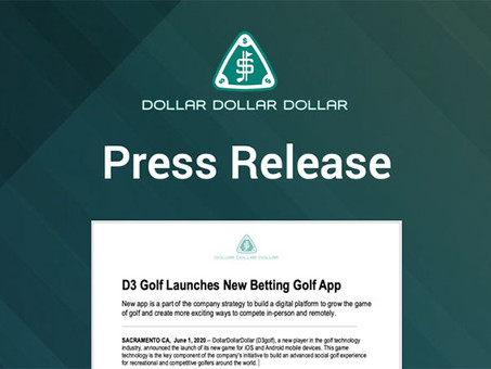 D3 Golf Launches New Betting Golf App
