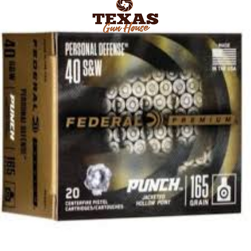 MUNICAO FEDERAL CALIBRE .40 SW 165GR PUNCH JHP