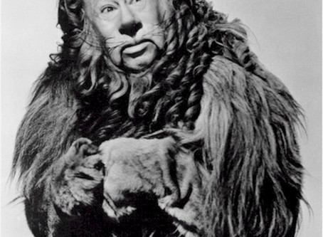 """The Cowardly Lion disguised as """"Boss"""""""