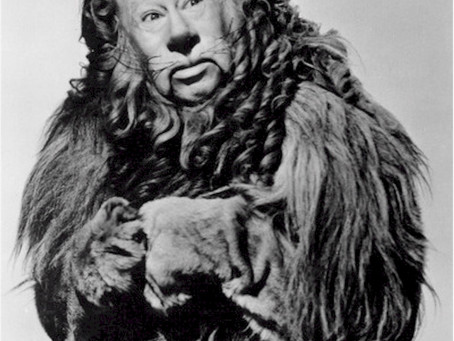 "The Cowardly Lion disguised as ""Boss"""