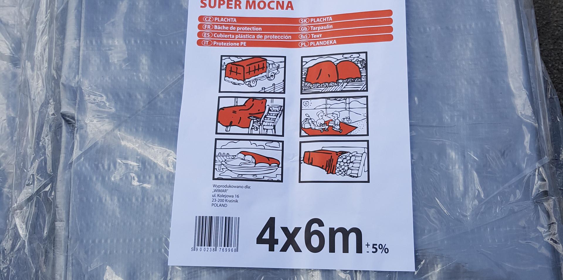 Тент TENEXIM 160 г/м2 р. 4x6 м. SUPER MOCNY