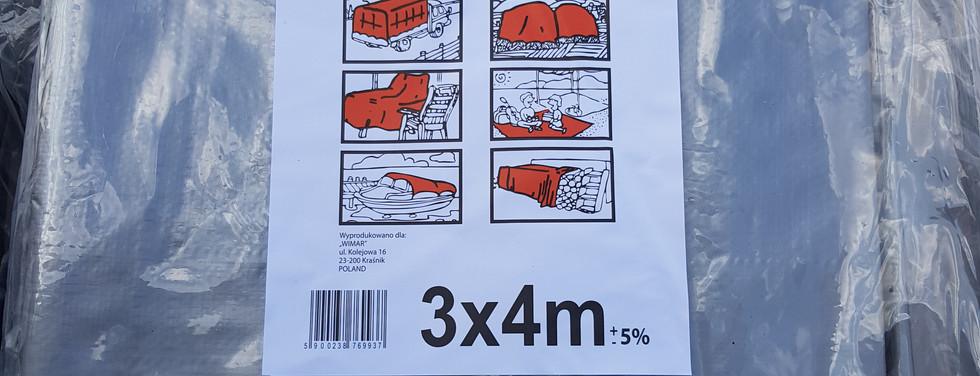 Тент TENEXIM 160 г/м2 р. 3x4 м. SUPER MOCNY