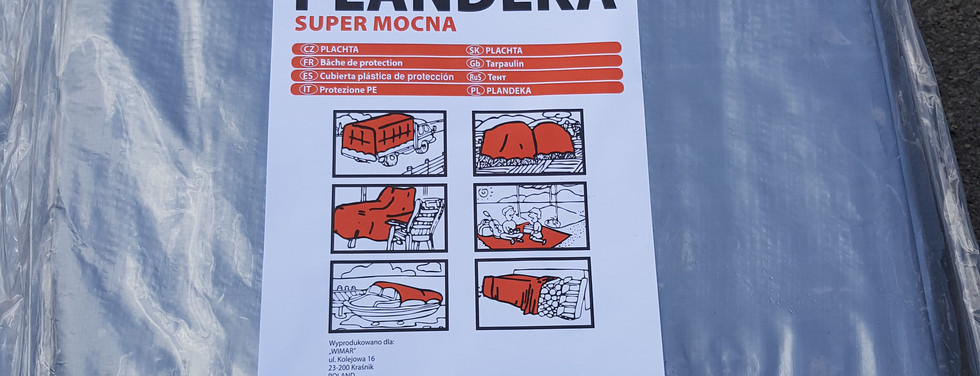 Тент TENEXIM 160 г/м2 р. 5x6 м. SUPER MOCNY