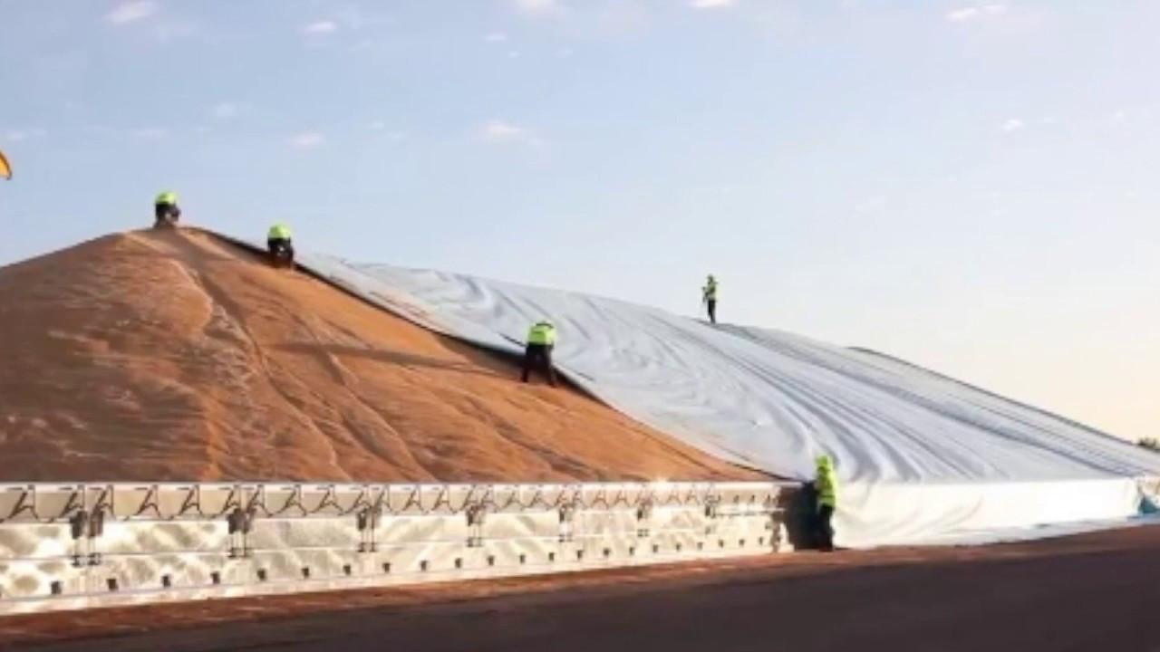 Тент накрытие зерна TENEXIM