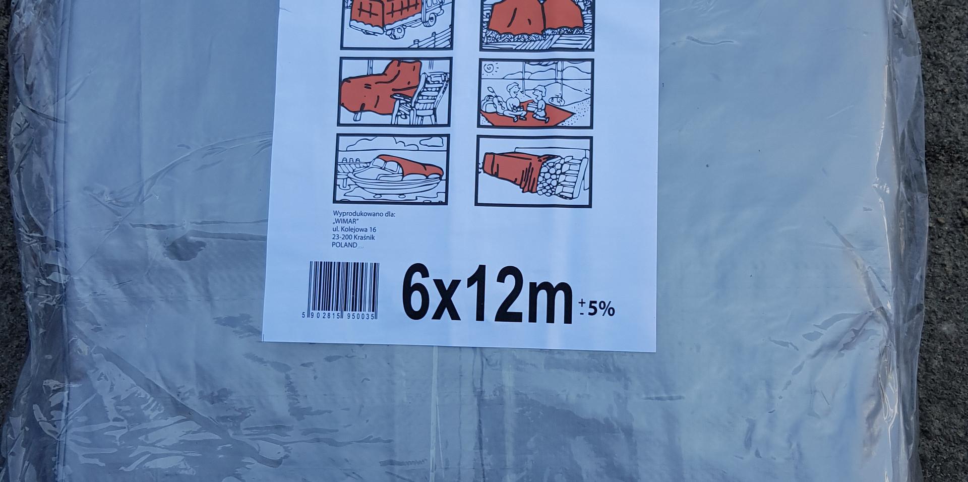 Тент TENEXIM 160 г/м2 р. 6x12 м. SUPER MOCNY