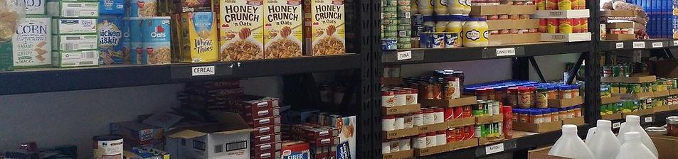 PO Food Pantry Shelves