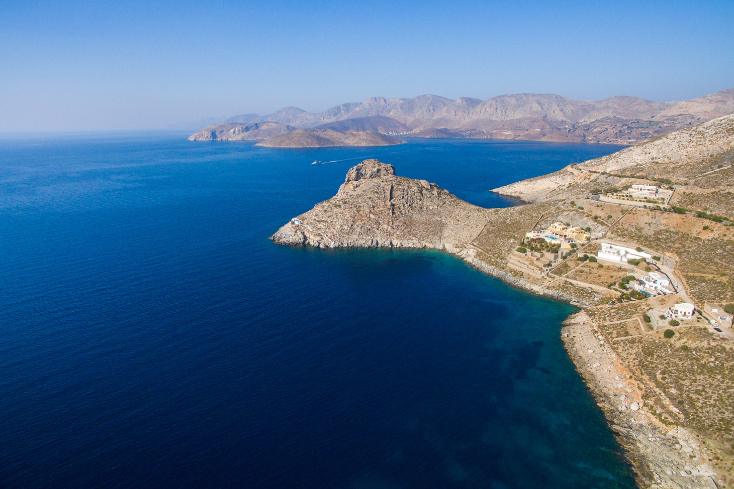 View of Kastelli Fort and the Aegean Sea, Kalymnos, Greece