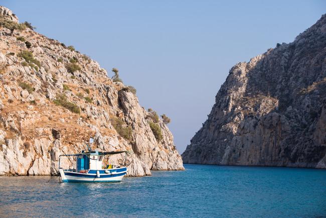 Fishing boat in Kalymnos, Greece