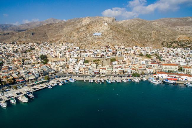 Port in Kalymnos, Greece