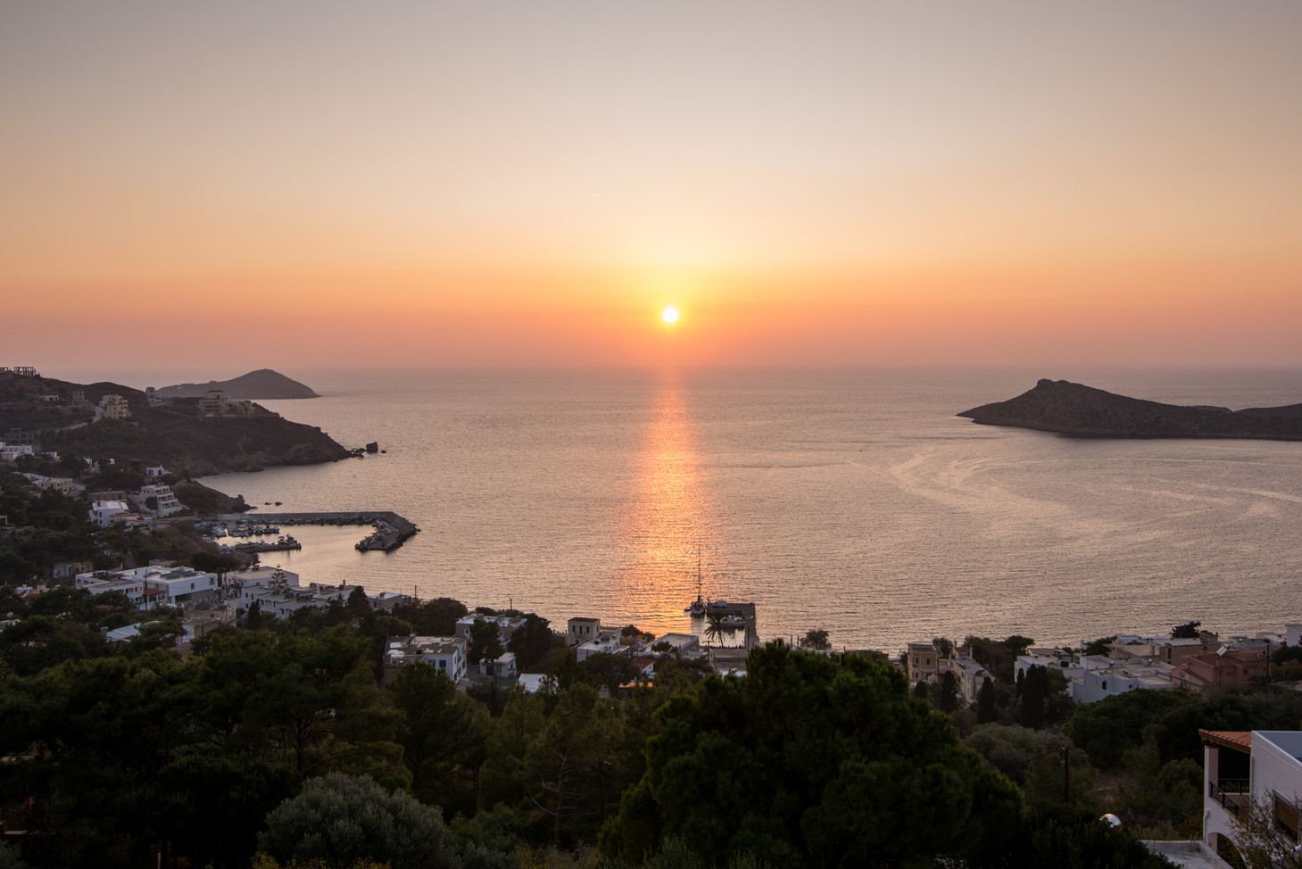 Sunsets in Kalymnos, Greece