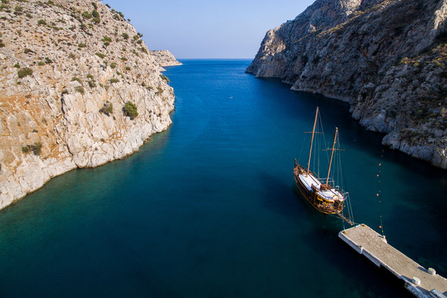 Rina Port in Vathy, Kalymnos, Greece