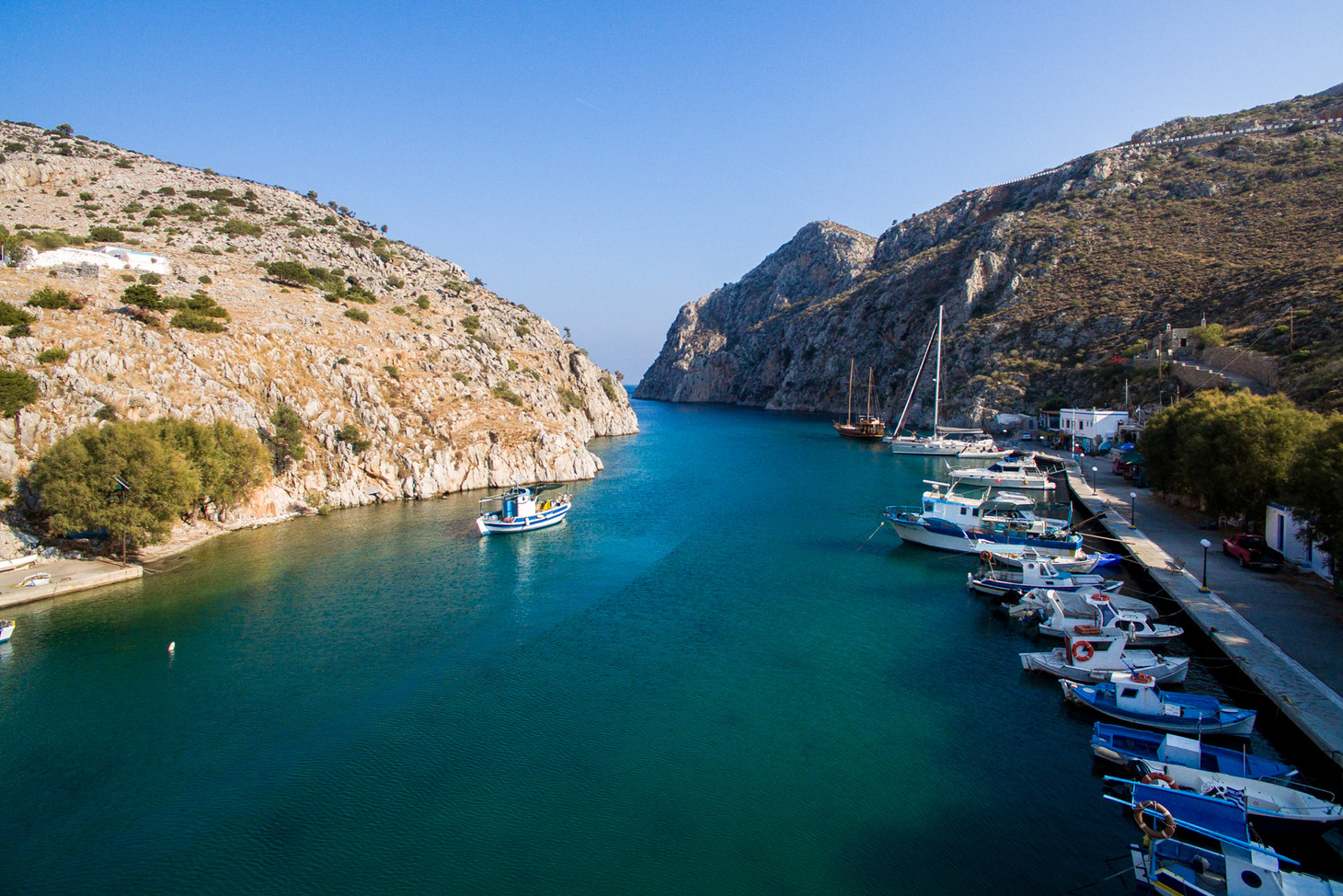 Rina Port in Vathy, Kalymnos, Greece