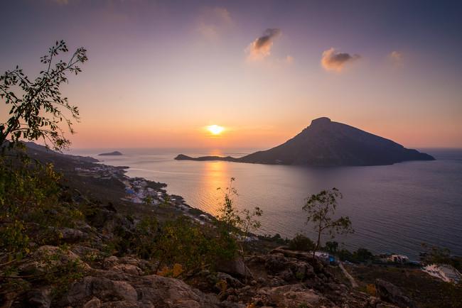 Sunsets in Kalymnos, The Villa at Kastelli Bay