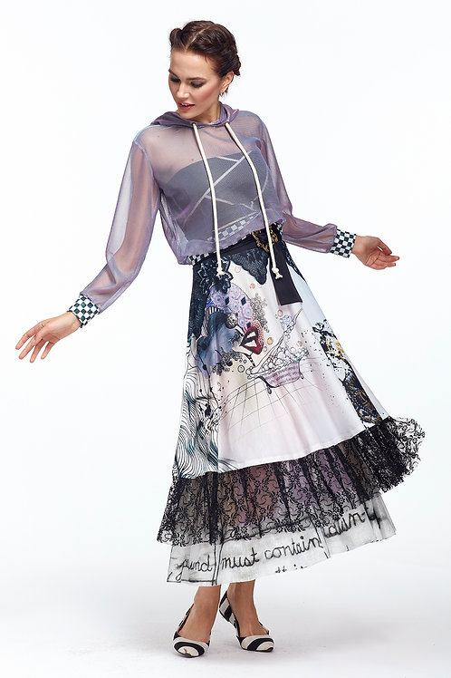 Skirt High Waist - Love Me Black