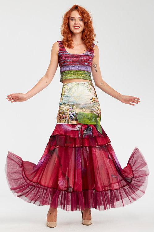 Skirt Long Ruffled - In Paradiso