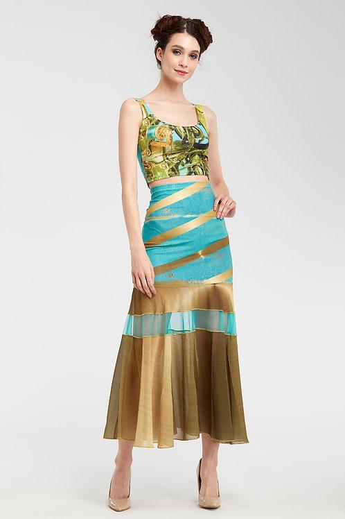Skirt Long Ruffled - Sunny Speach