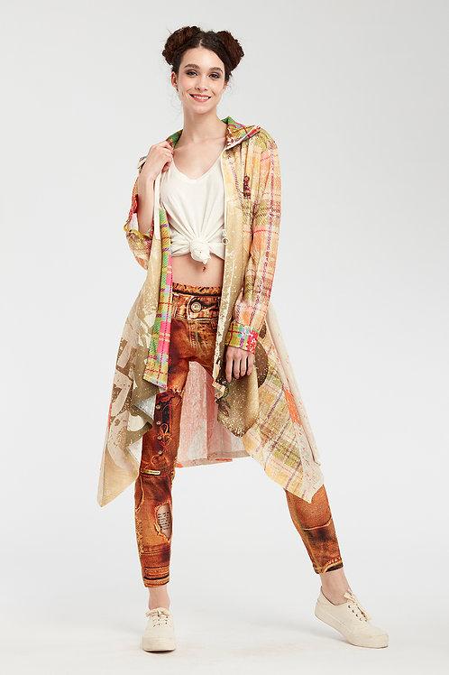 Long Shirt Cardigan - Sunny Speach